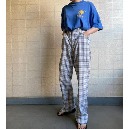 CHECK  PATTERN TAPERD PANTS