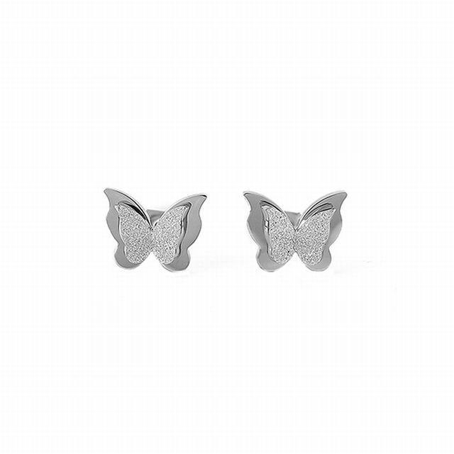 両耳 ピアス バタフライ 蝶々 キャッチ メンズ レディース シルバー 合金 アクセサリー TBN-623332905476