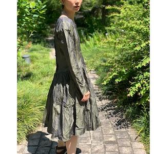 Vintage Olive Back button dress
