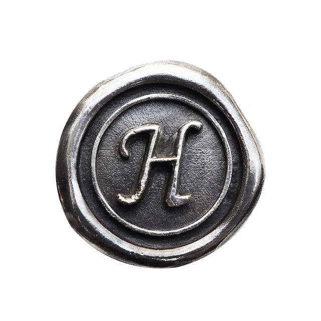 シーリングイニシャル S 〈H〉 シルバー / コンチョボタン