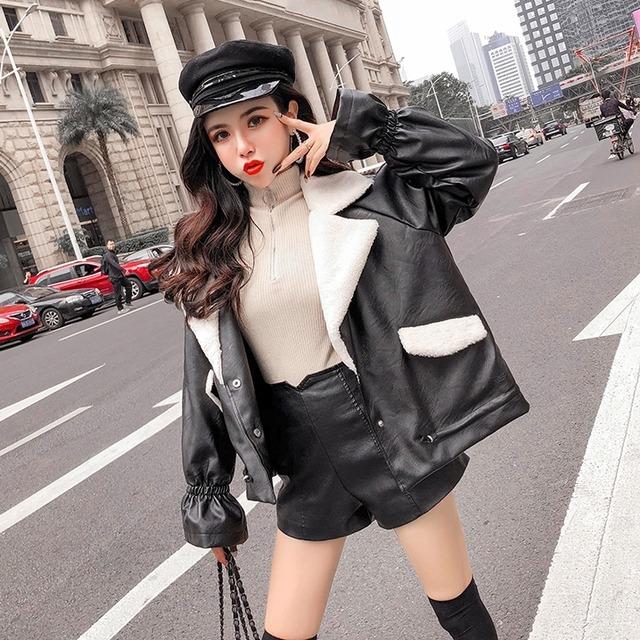 【アウター】ファッション長袖PUジャケット42920191