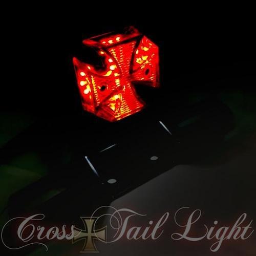 バイク LEDテールランプ クロステール ミニ十字型 LED/汎用/マグナ/ジャズ/SR/TW/ビンテージスタイル/ナンバー灯