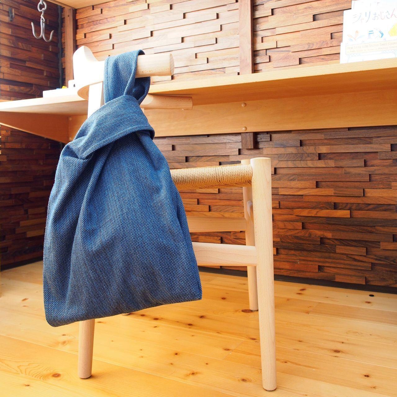 うしじま縫製 | 武州正藍染 エコバッグ 一重刺子