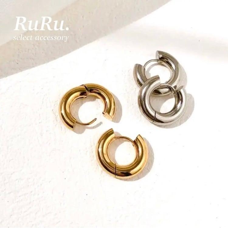 hoop pierce / 316L stainless