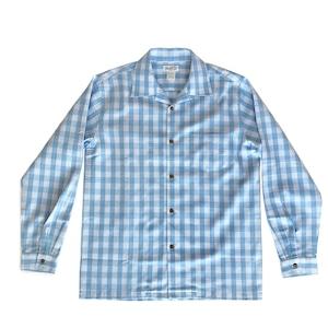 オリジナル パラカシャツ Men's オープン長袖  / サックスブルー