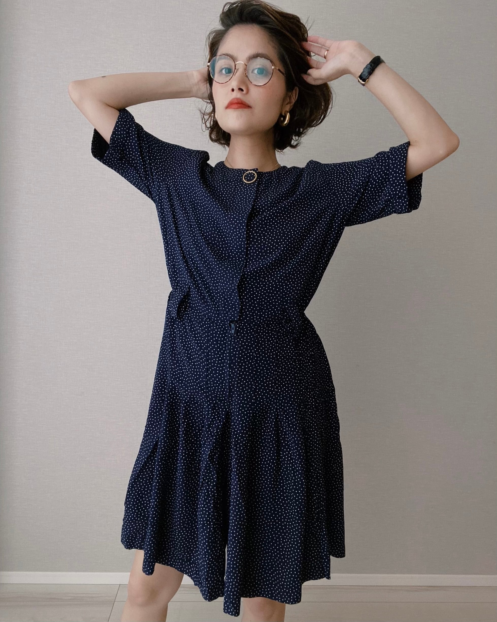 (OP029)Dot Rompers made in USA