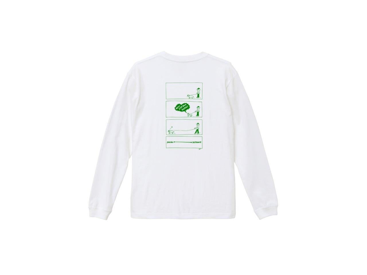 SHI × coguchi Dog SD long T-shirt (WH/GR)