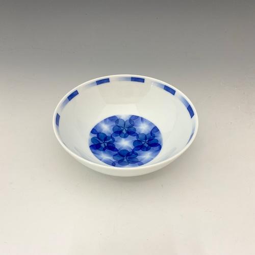 【中尾英純】和紙染花文多用鉢