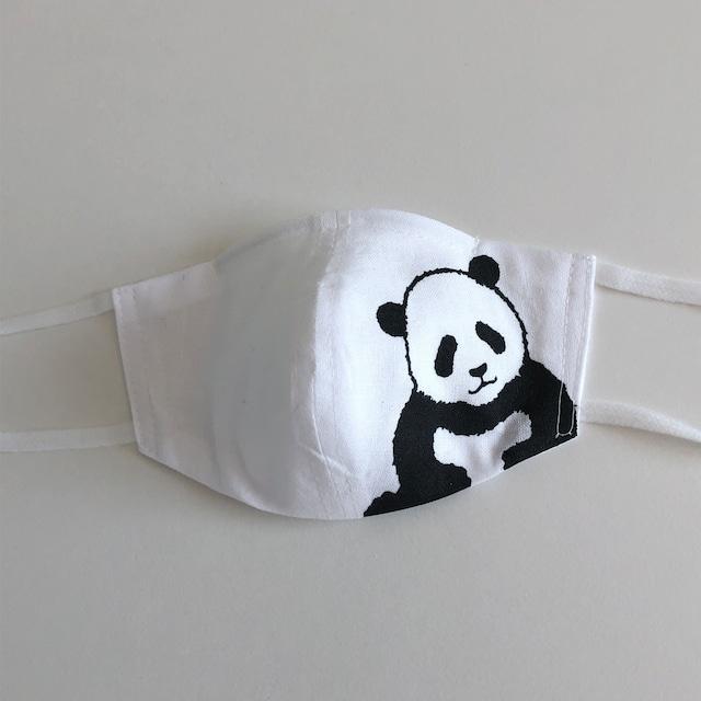 柄と色が選べる!和晒てぬぐいマイマークマスク 幼児用 パンダ大・小