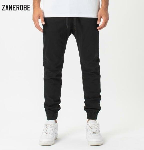 ゼインローブ ジョガーパンツ メンズ 日本企画モデル ZANEROBE SURESHOT JOGGER BLACK