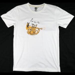 パンダがトランペットに?「トランペットパンダ」Tシャツ