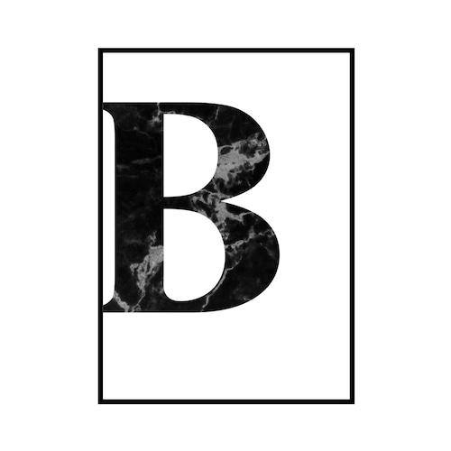 """""""B"""" 黒大理石 - Black marble - ALPHAシリーズ [SD-000503] B3サイズ ポスター単品"""