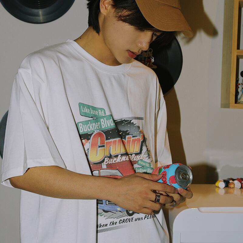 カープリントTシャツ YH1820