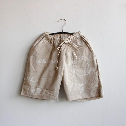 《UNIONINI 2021SS》embroidery short pants / beige