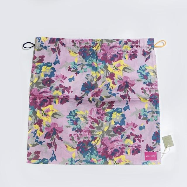 北欧デザイン 巾着 | pink flower