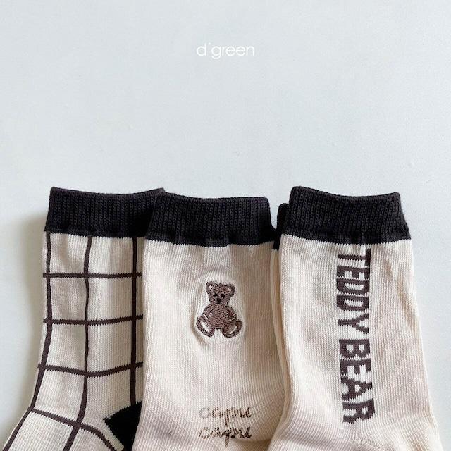 «即納/予約» Teddy Series 3set  テディソックス 靴下