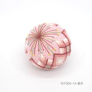 手まり制作キット「桃の花」(テキストあり)_KIT004-1