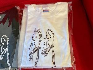【売り切れました】MAMONOて〜シャツ(長袖)【白】メンズS(レディースM〜L相当)