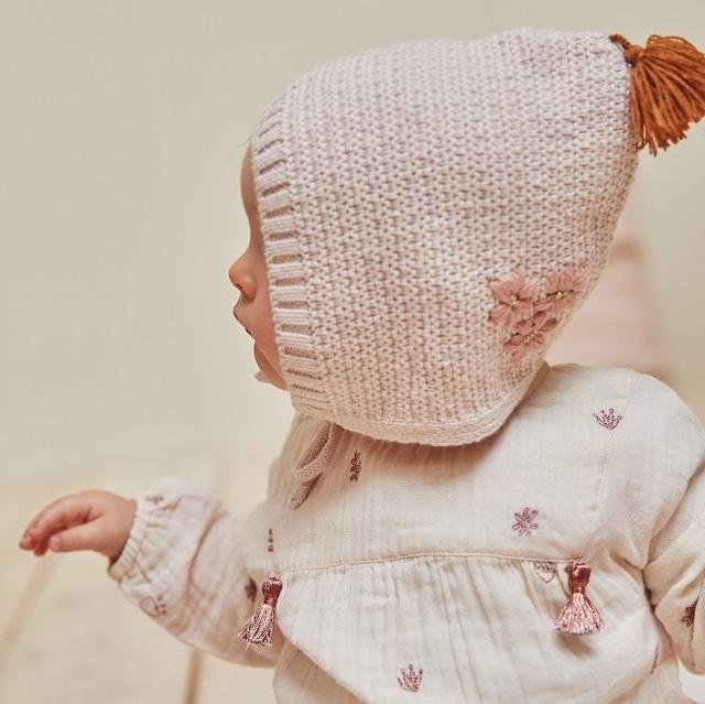 BONHEUR DU JOUR  Baby Knit帽子