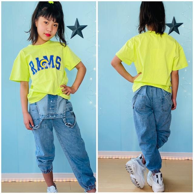 120~160cm 2カラー ★ Tシャツ 半袖 ロゴプリント 男の子 女の子