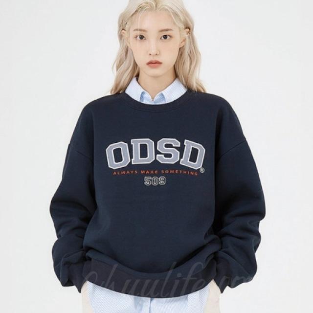 【トップス】韓国の人気爆発!カジュアル ファッション 気質よい 若見え 無地 刺繍 ラウンドネック パーカー53323047