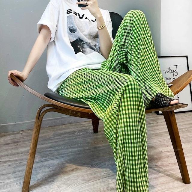 Check pattern pants KRE977