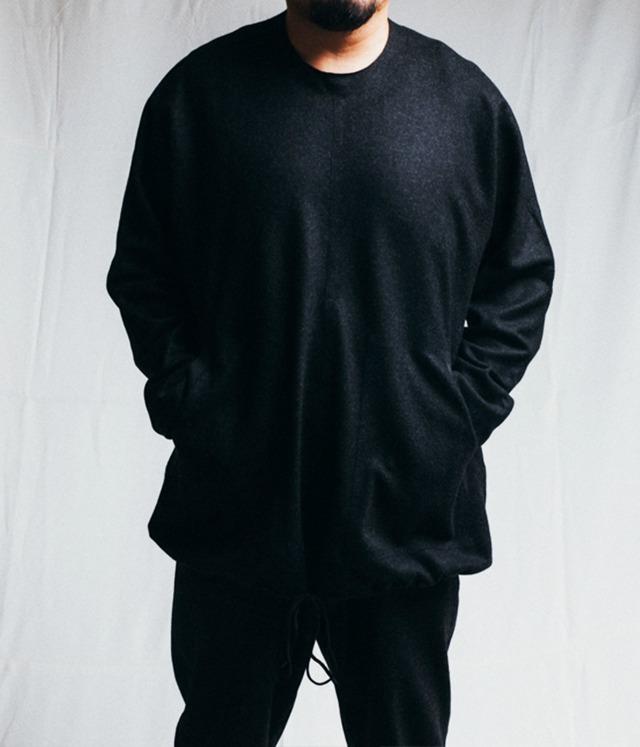 BARBALA ALAN - Wool drawstring sweater(oversized) - 1887 TJ026