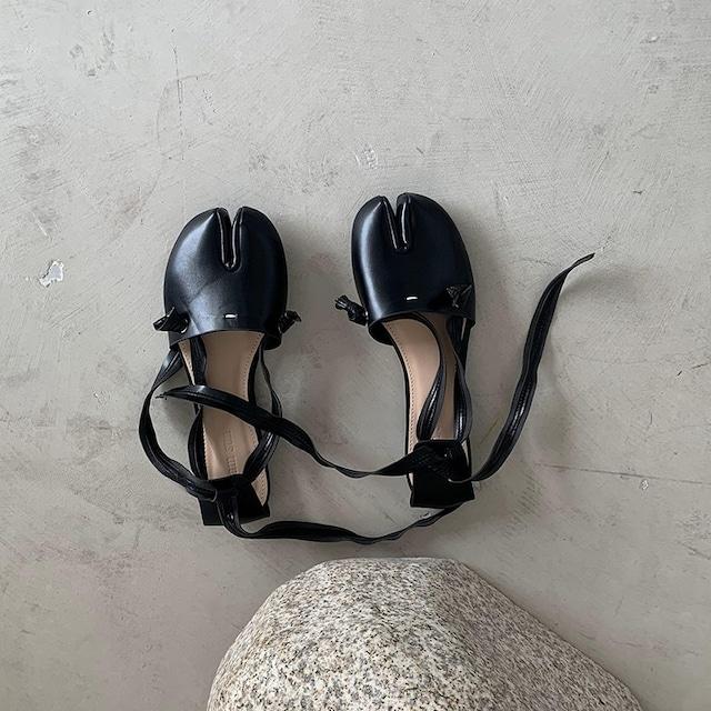 Tabi ribbon flat sandals(タビリボンフラットサンダル)b-346