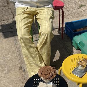 Summer check straight pants(サマーチェックストレートパンツ)b-186