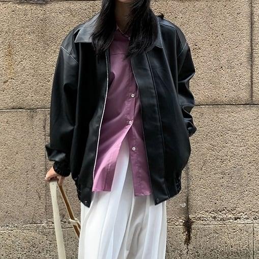 PU leather short jacket(PUレザーショートジャケット)b-474