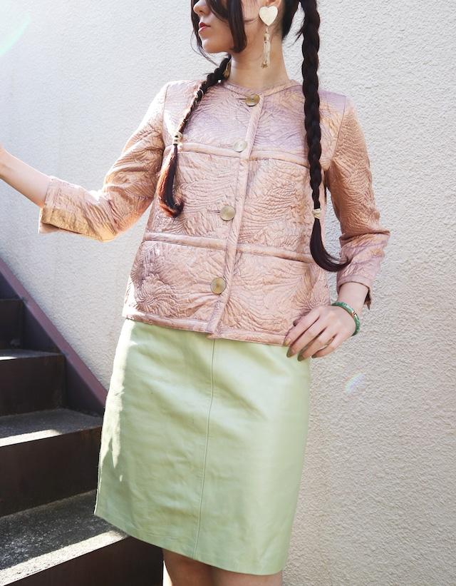 Gold pink jacket