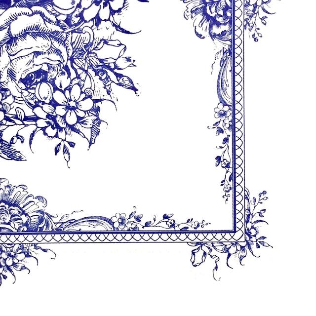 イギリス【Talking Tables】バラ売り1枚 ランチサイズ ペーパーナプキン PARTY PORCELAIN BLUE ブルー