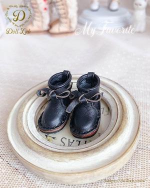 リボン革ブーツ [Eve / ブライス サイズ] ブラック D2008-BLK-30