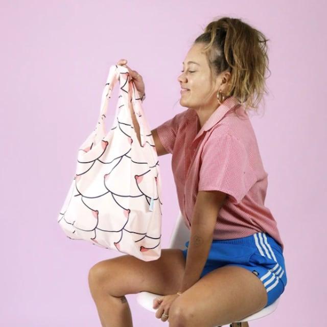 KIND BAG -LONDON- Eco bag Boobs Reusable エコバッグ M