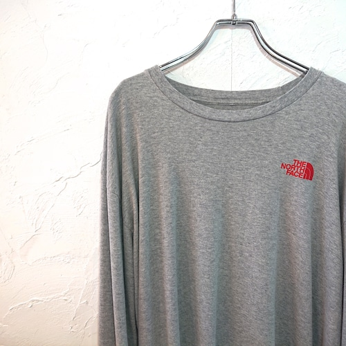 【USED】THE NORTH FACE ロングスリーブ Tシャツ グレー