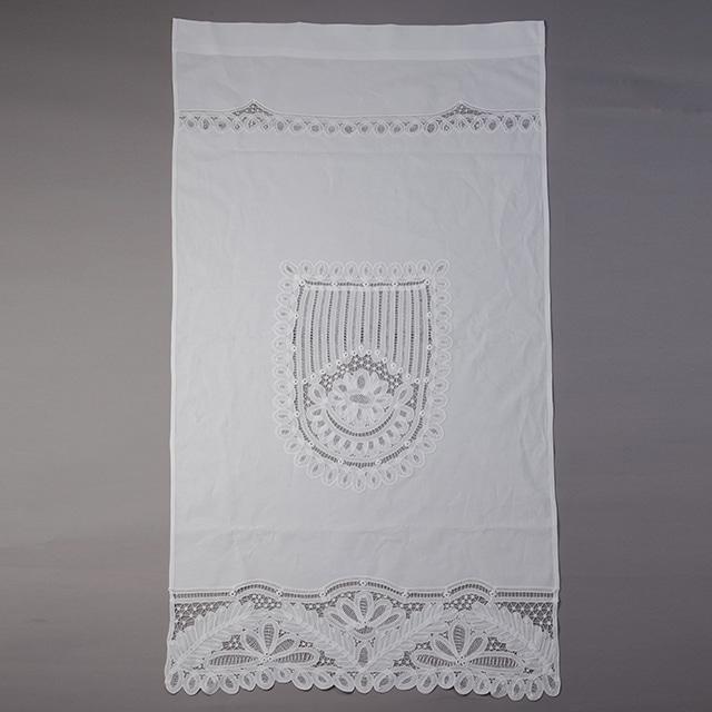 【綿100%使用】バテンレースパーティション(間仕切り) ホワイト【YBL-PTTN-01】