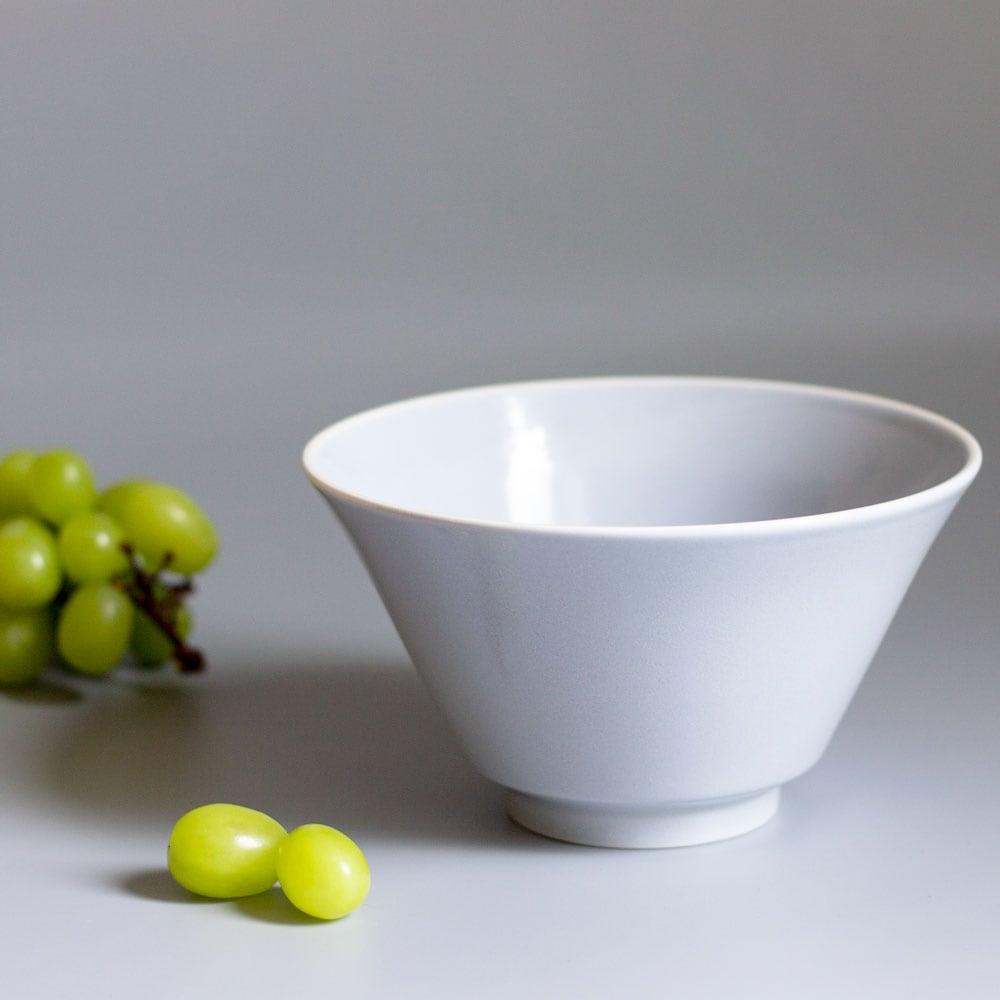 aito製作所 「シエル Ciel」きほんのうつわ どんぶり鉢 ボウル 皿 直径約17×深さ9.4cm ライトグレー 美濃焼 520116