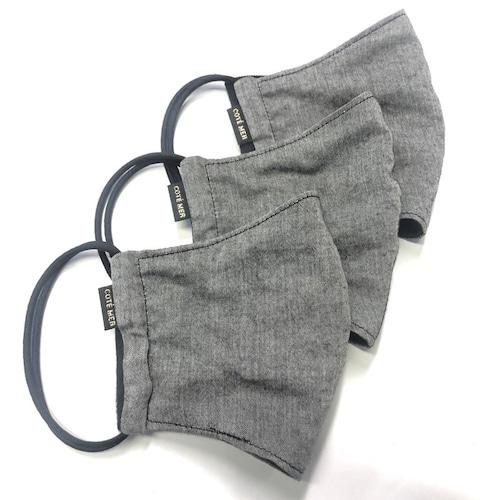 【夏用マスク3枚セット COOLMAX×オーガニックコットン日本製】オーガニックコットンマスクセット