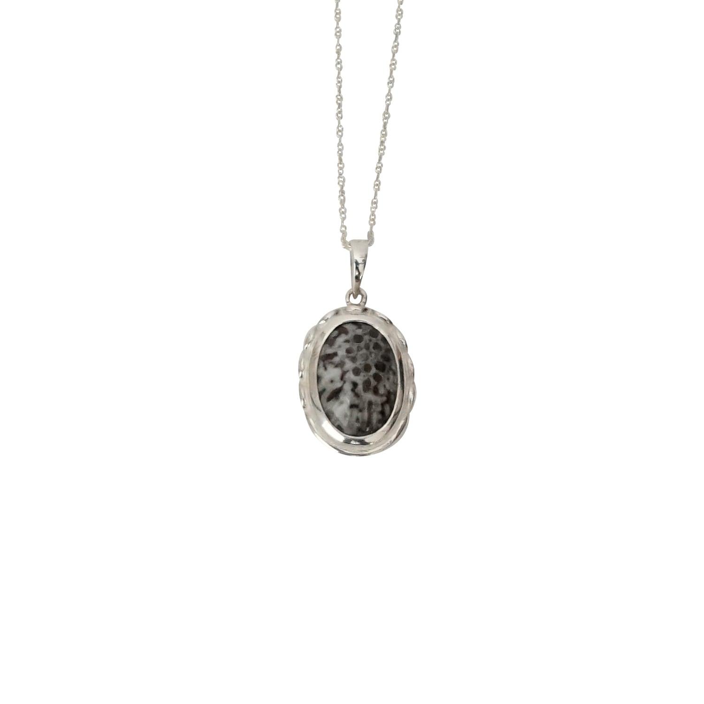 U-002 fossil coral (silver925)