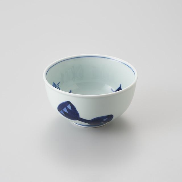 """【青花】""""オランダ万才"""" 玉渕4.5寸丼"""