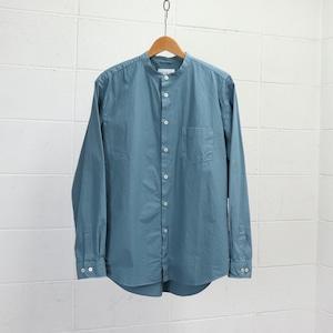 【Manual Alphabet】 LOOSE FIT BAND COLLAR SHIRT (5色) マニュアルアルファベット バンドカラーシャツ  日本製 MADE IN JAPAN