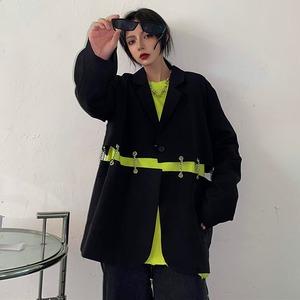 【アウター】長袖ストリート系チェーン個性的暗黒系スーツ42908939