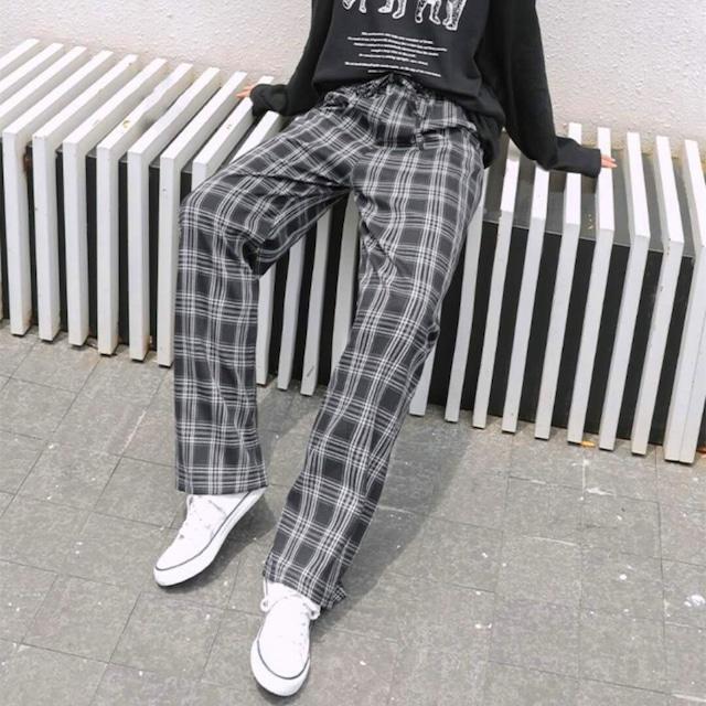 【ボトムス】 チェック柄シンプルファッションシンプル通勤カジュアルパンツ33710846