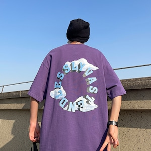 バックビッグプリントTシャツ BL8759