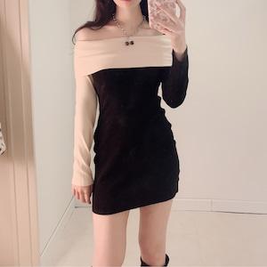 【 再入荷 】off shoulder tight dress