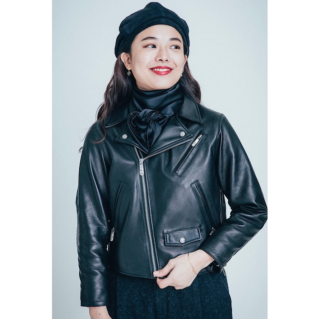 PC RIDERS JACKET (for LADY PC) W/LOVE & PEACE SILVER