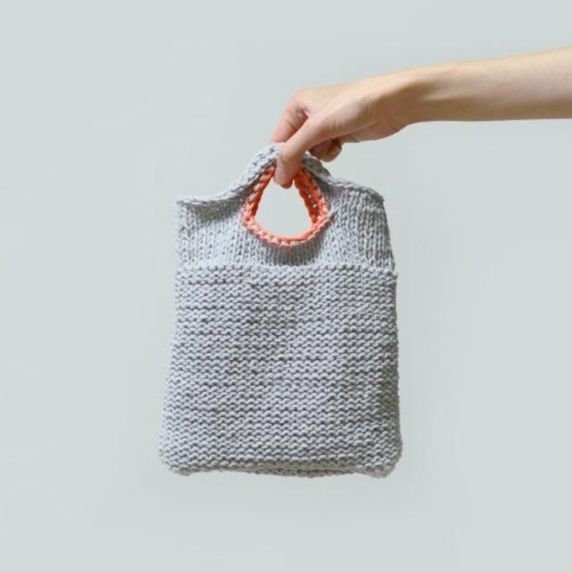eccominニットバッグの編み物キット