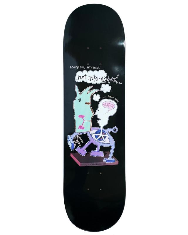 Frog skateboards Not Interested (Pat G) Deck 8.38