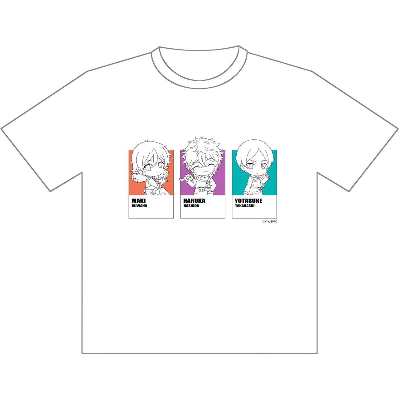 【4589839368056予】ブルーピリオド Tシャツ(悠&マキ&世田介) L