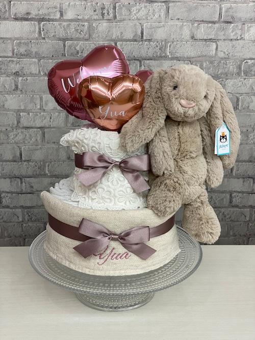 natural girly♡beigebunnyのおむつケーキ